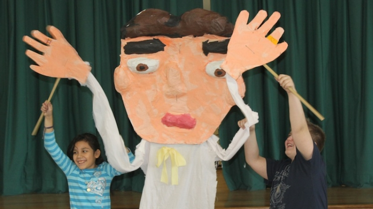 arts connection puppet worked by students