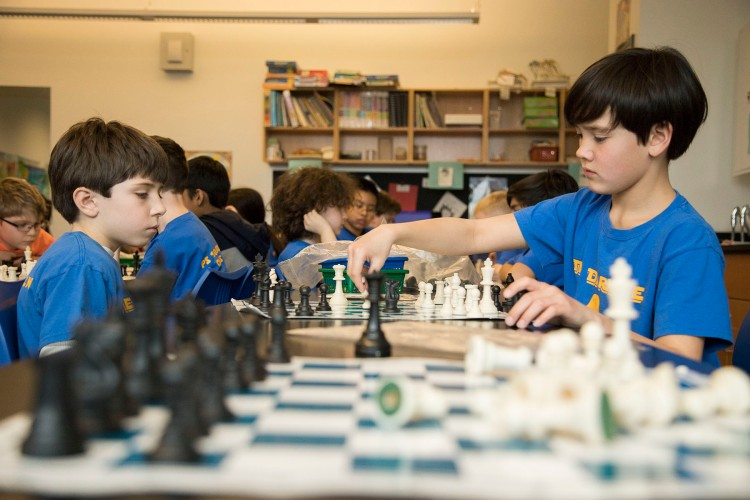 students play chess
